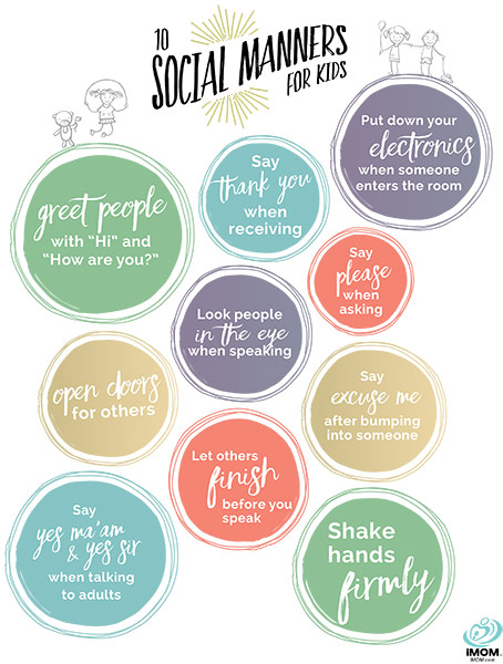 10 Social Manners For Kids Imom