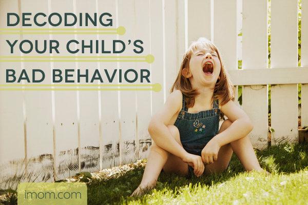 child badly behaving