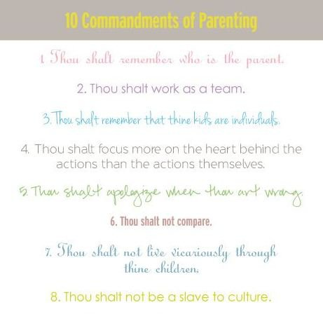 10 Commandments of Parenting
