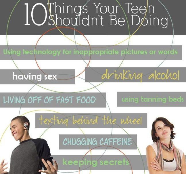 10 Things Your Teen Shouldn't Be Doing