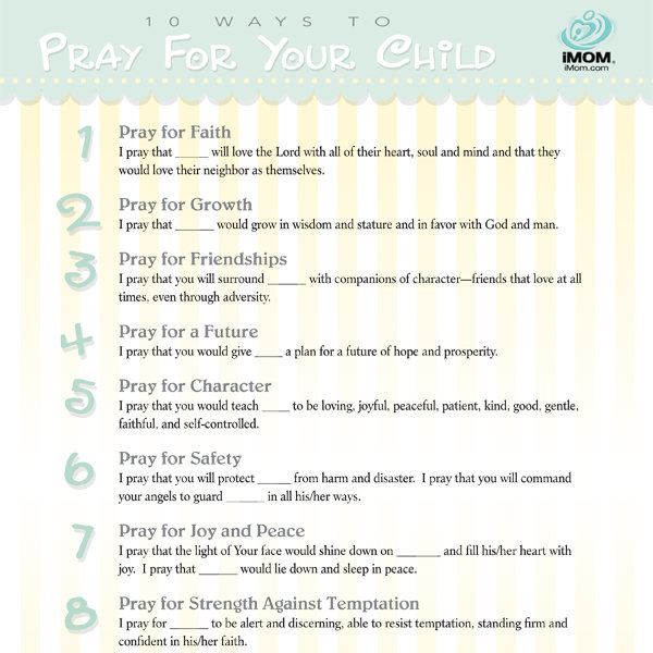 10 Ways To Pray For Your Child Imom