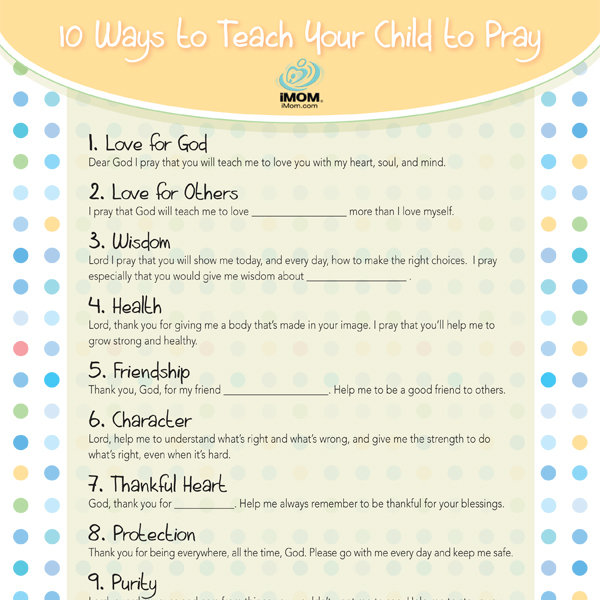 10 Ways to Teach Your Child to