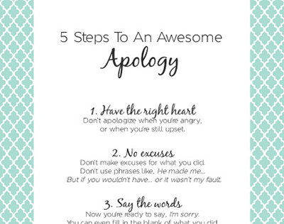 4-Step Apology: Apologizing to Your Child - iMom
