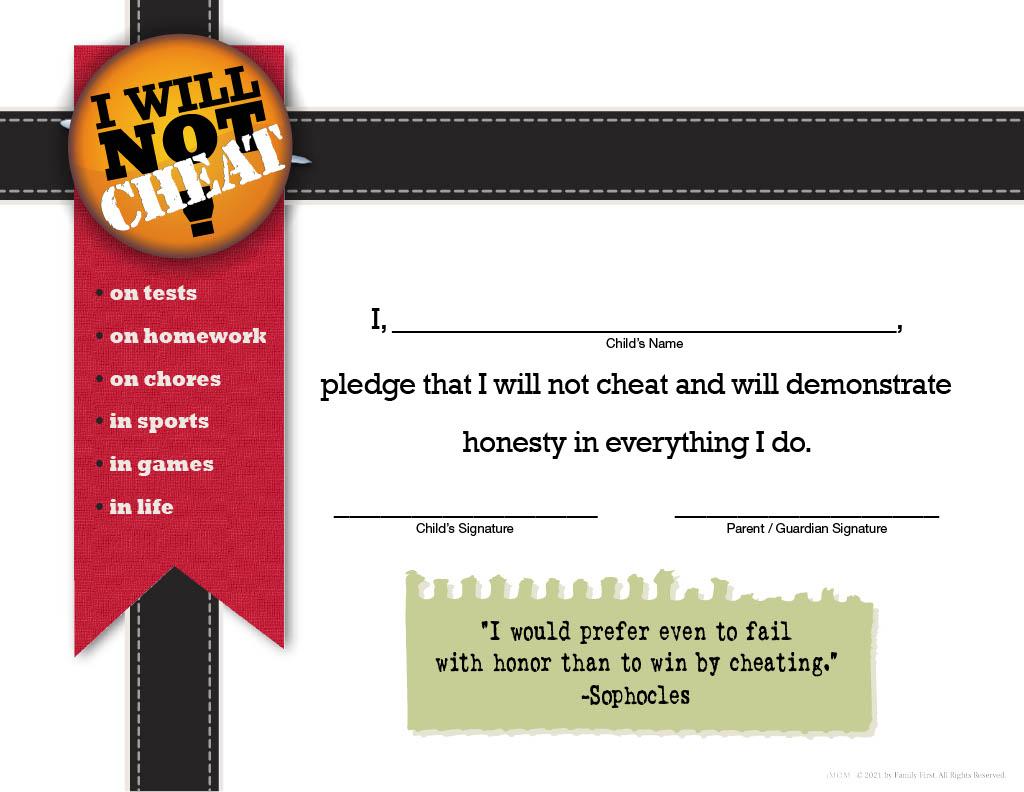 i will not cheat