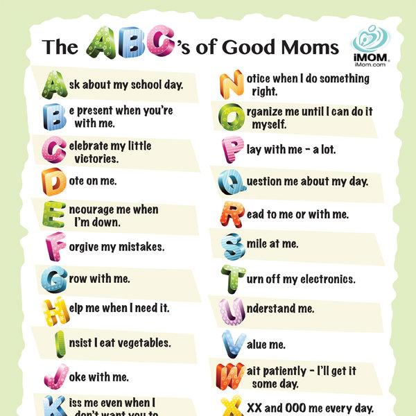 Abc S Of Good Moms Imom