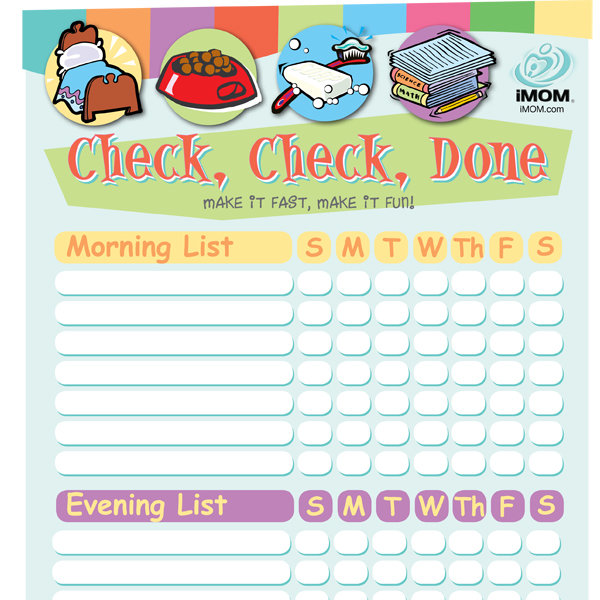 mom and child photo ideas - Check Check Done Checklist for Kids Printable Template