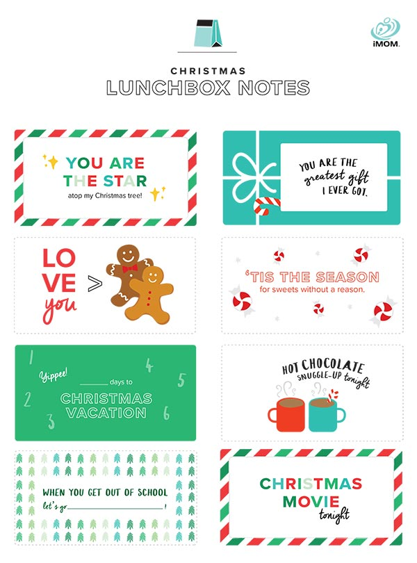 christmas lunchbox notes
