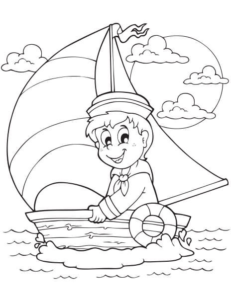 Summer Coloring Page - Octopus