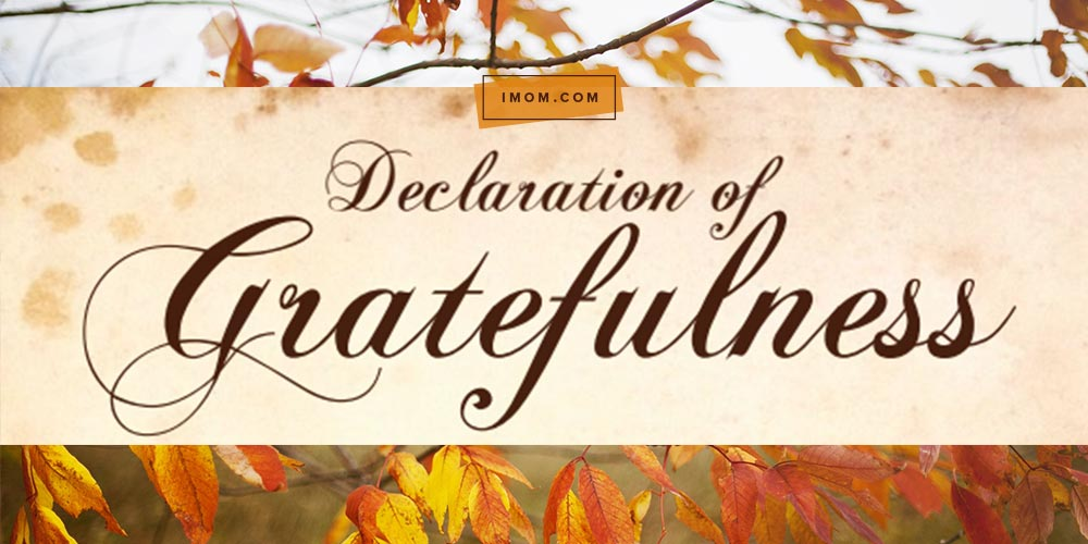 Declaration Of Gratefulness Imom