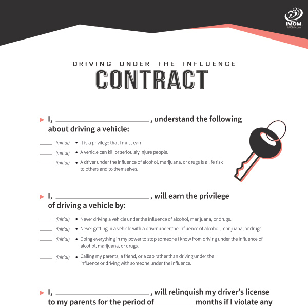 Free Printable Contracts for Kids and Teenagers iMOM