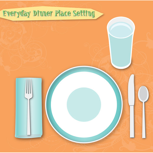 sc 1 st  iMOM.com & Everyday Table Place Setting Chart - iMom