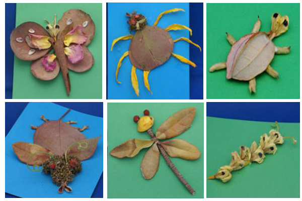 Bugs made from things in nature.