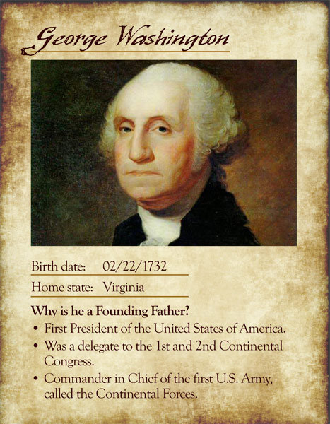 Founding Father Cards iMom