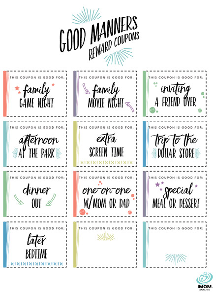 good manners reward coupons