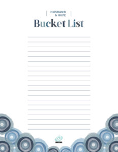 how to show love to your husband with a bucket list
