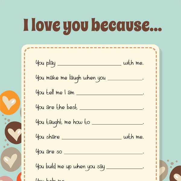 photo about I Love You Printable titled I Get pleasure from By yourself Since - iMom