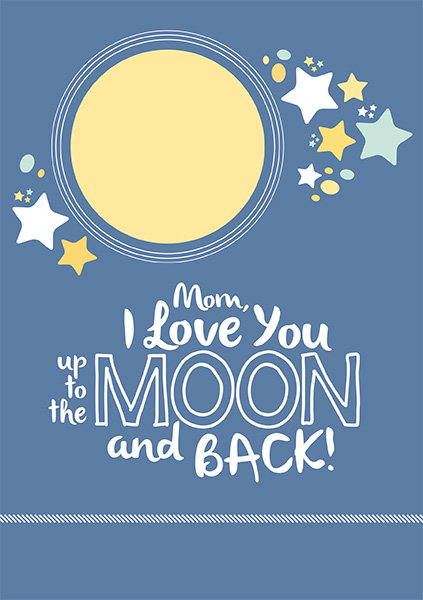 mothers day card moon