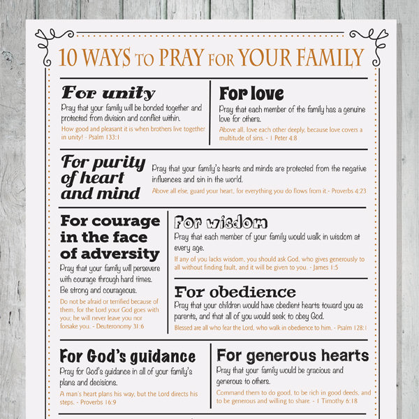 10 Ways To Pray For Your Family Imom