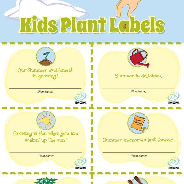 It is a picture of Invaluable Printable Plant Labels