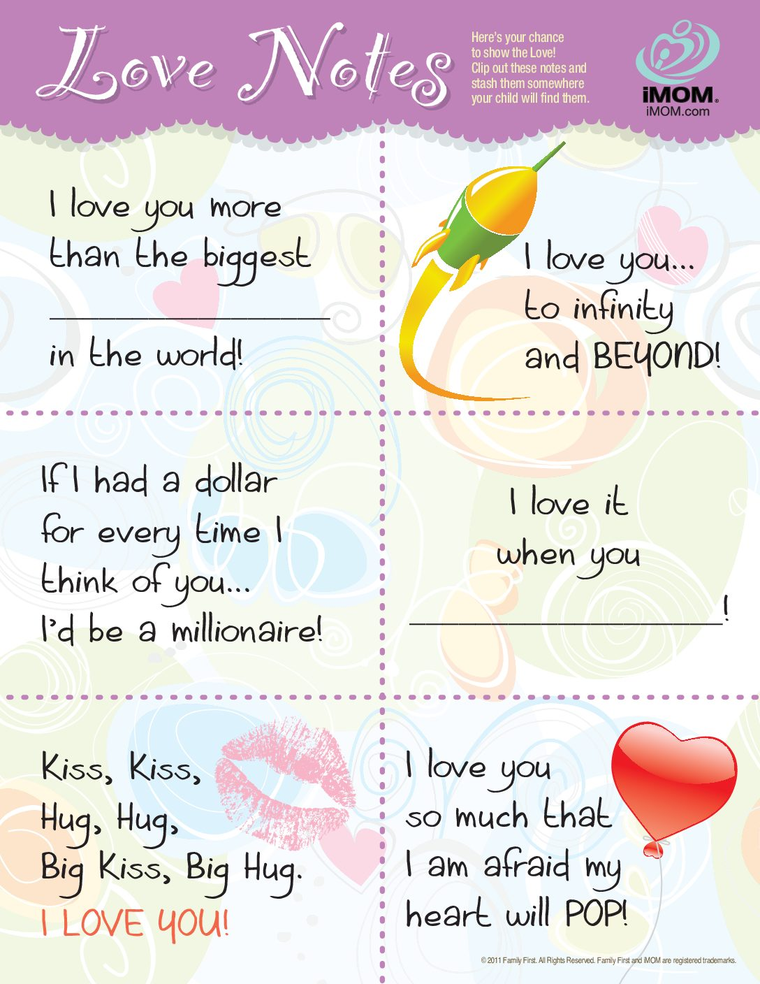 Imom Love Notes Imom