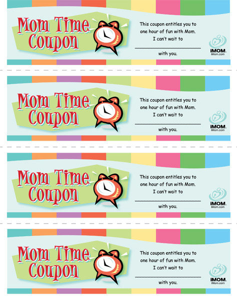 photo about Friendship Coupons Printable named Mother Period Coupon codes - iMom