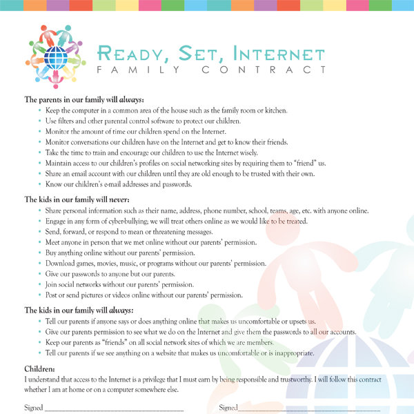 Family Internet Contract Imom
