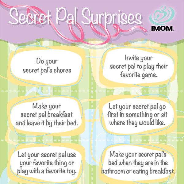 Secret Pal Surprise Cards IMom