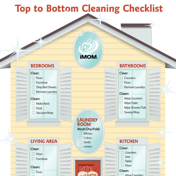 Top To Bottom Cleaning Checklist - Imom
