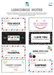 things kids love lunchbox notes