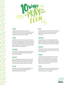 praying for teenagers