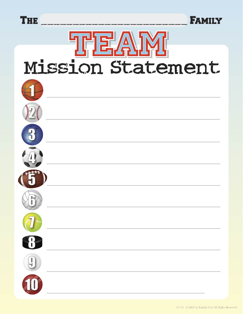 team mission statement
