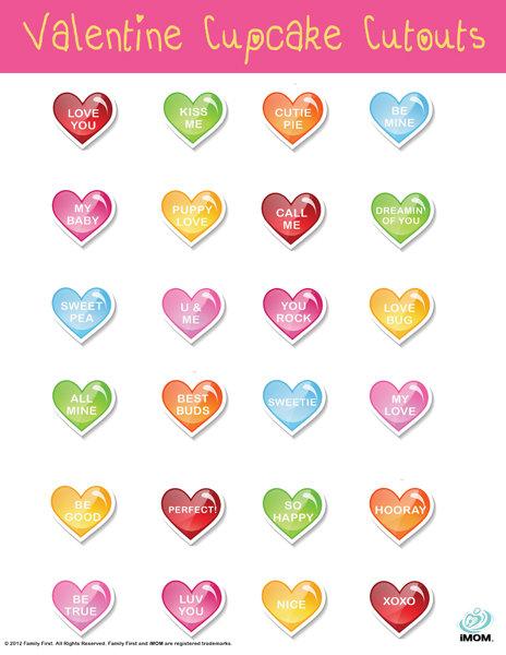 Valentine Cupcake Cutouts iMom