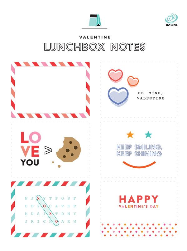 valentine lunchbox notes