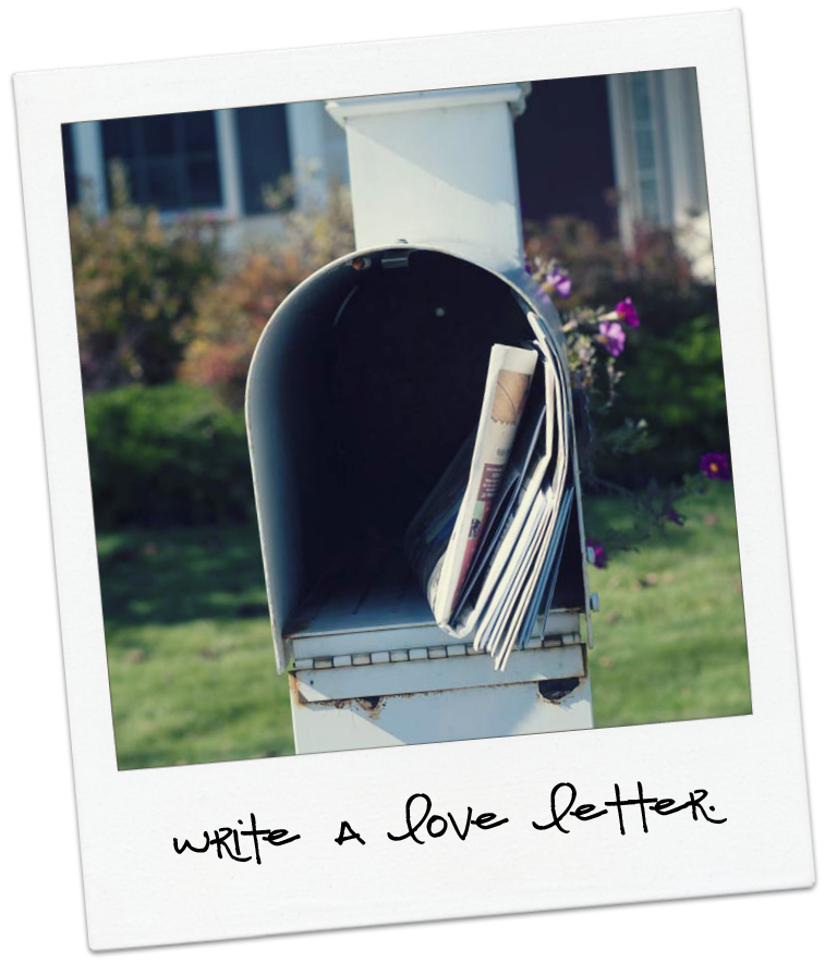 love letter in a mailbox