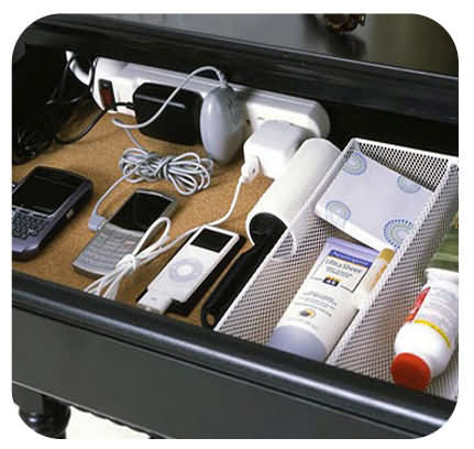 in drawer charging station