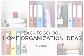 back to school home organization