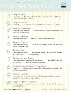 10 Ways to Pray for Your Child