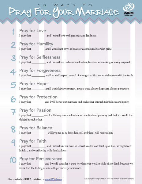 10 Ways to Pray for Your Marriage