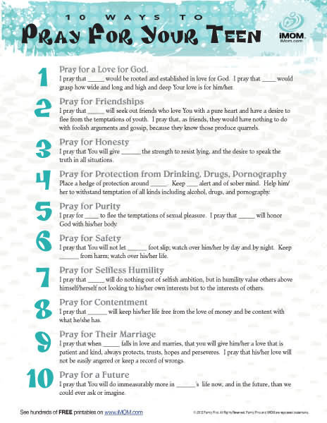 10 Ways To Pray For Your Teen Imom