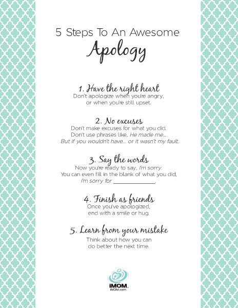 Steps To An Awesome Apology Imom