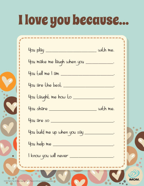photo relating to I Love You Because Printable titled I Get pleasure from Your self Since - iMom