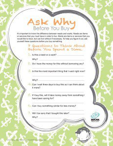 Ask Why Before You Buy Questionaire