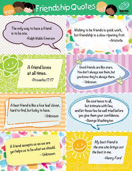Friendship Quotes For Kids Favorite Friendship Quotes for Kids   Printable Friendship Quotes For Kids