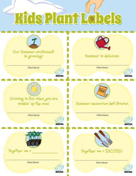 photograph relating to Printable Plant Labels identify Little ones Plant Labels - iMom