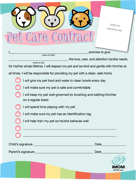 Pet Care Contract - iMom