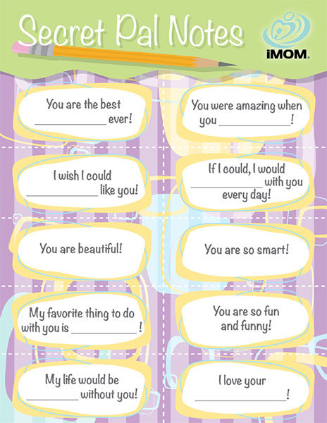 photograph relating to Printable Secret Sister Questionnaire identify Key Good friend Notes - iMom
