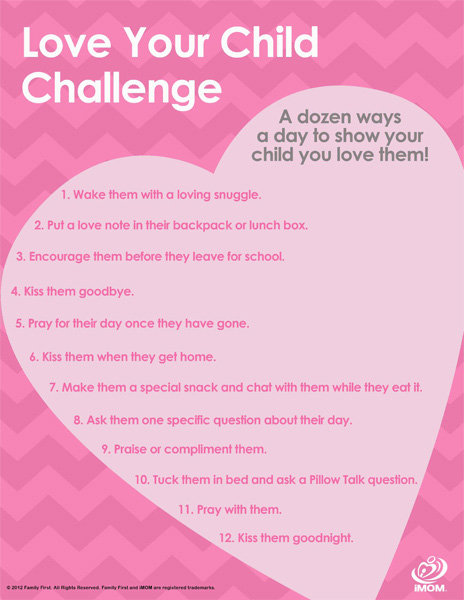 Love Your Child Challenge iMom