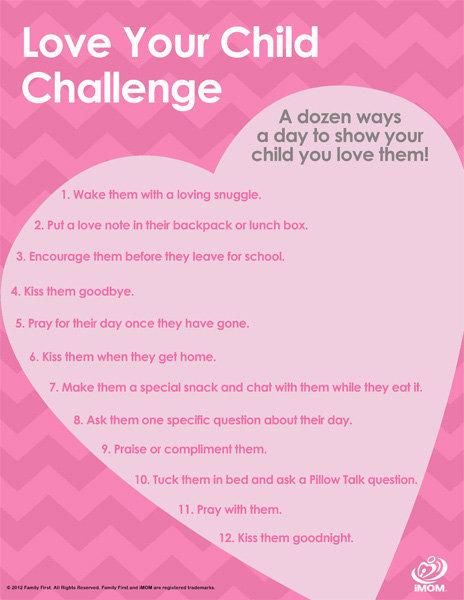 Love Your Child Challenge iMom