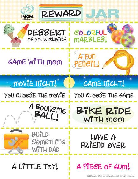 Printable reward coupons for kids