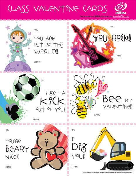 Class Valentine Cards iMom